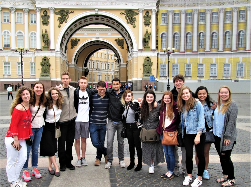 University of Georgia students at a Study Abroad in Russia
